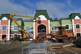 dp.uz.gov.ua: Будівництво вокзалу станції  Рокувата швидкими темпами виходить на фінішну пряму