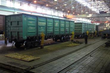 dp.uz.gov.ua: За січень 2014 року на залізниці збільшили ремонт вагонів на 5,4%