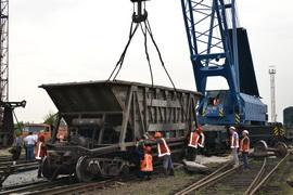 dp.uz.gov.ua: Придніпровські залізничники оперативно ліквідували на станції Пологи наслідки сходження вагонів з рейок