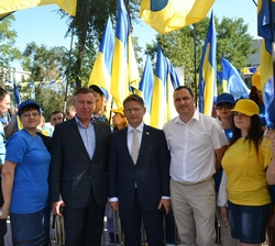 dp.uz.gov.ua: Придніпровські залізничники стали учасниками урочистого підняття Державного Прапора за участю Президента України