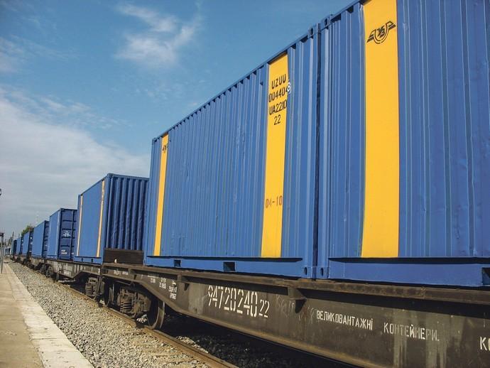 dp.uz.gov.ua: У 2019 році на Придніпровській залізниці вдвічі збільшилася кількість контейнерних поїздів