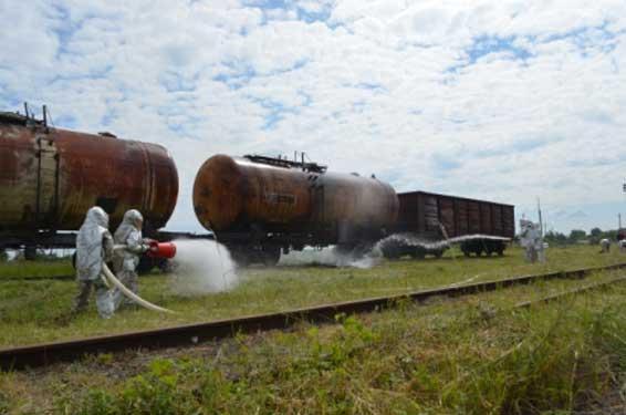 dp.uz.gov.ua: Улітку пожежні поїзди Придніпровської залізниці здійснили                       11 навчальних виїздів