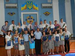 dp.uz.gov.ua: На залізниці з професійним святом привітали профспілкових лідерів